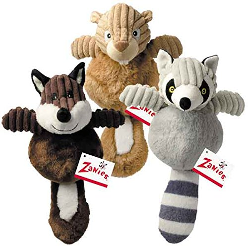 Zanies Country Crew Squirrel Toy (4 Pack)