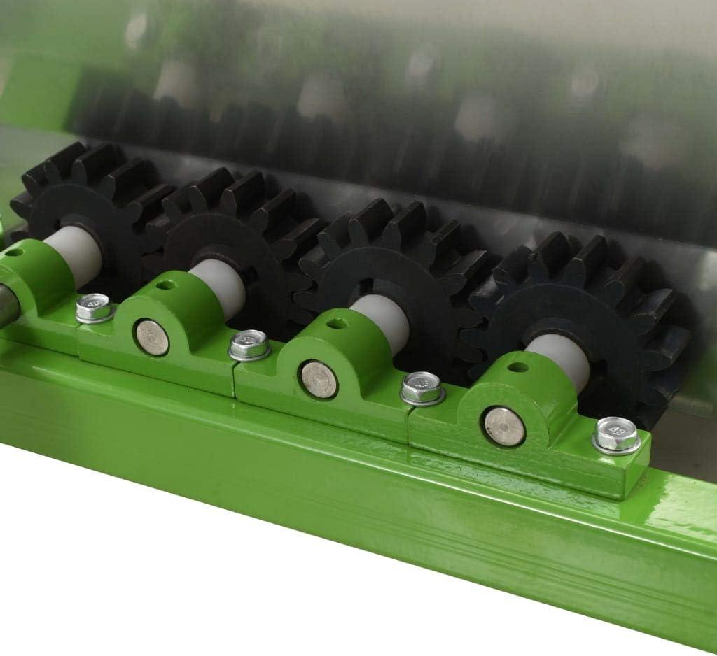 UnfadeMemory Trituradora Manual de Fruta,Acero,Verde y Plateado 15L