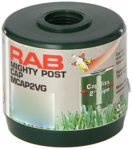 "RAB Lighting MCAP2VG Mighty Post Cap for 2"" Pipe, 2-3/8"" OD x 2-3/4"" Height, Verde Green"