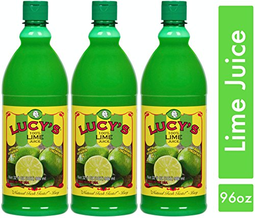 Lucy's 100% Lime Juice bottle, 32 oz. (Pack of 3)