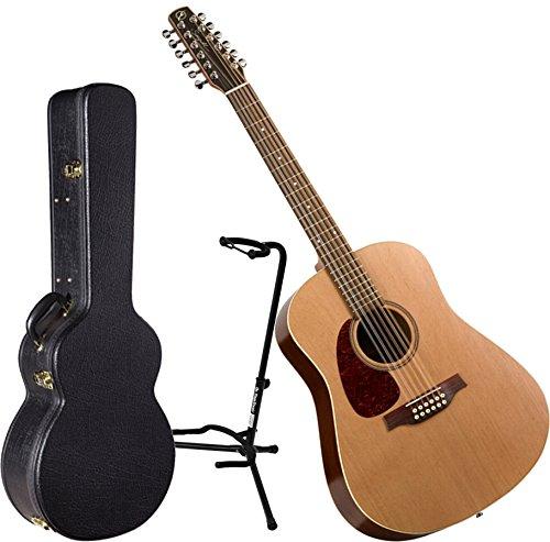 Seagull Coastline S12 Cedar Left Handed Acoustic Guitar w/ H