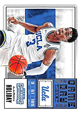 02eb379ed 2018-19 Panini Contenders Draft Picks Game Day Tickets  33 Aaron Holiday UCLA  Bruins