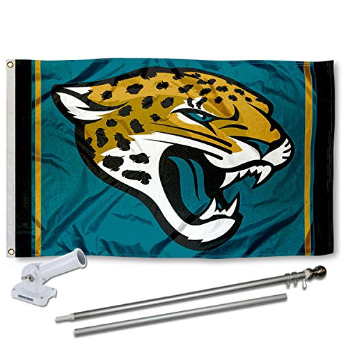 WinCraft Jacksonville Jaguars Flag Pole and Bracket Kit