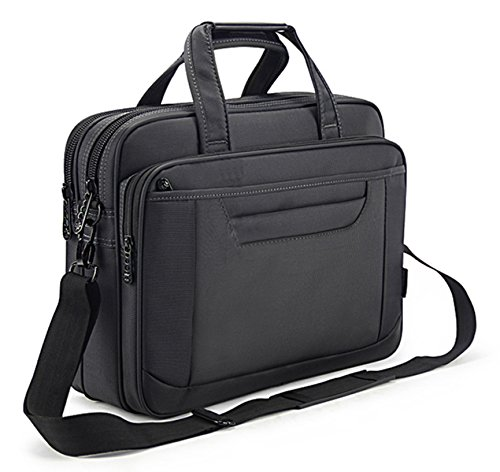 (Briefcase Bag 15.6 Inch Laptop Messenger Bag Business Office Bag for Men Women, Waterproof Stylish Nylon Multi-functional Shoulder Bag fit for Computer Notebook Macbook Hp Dell Lenovo Asus Apple)
