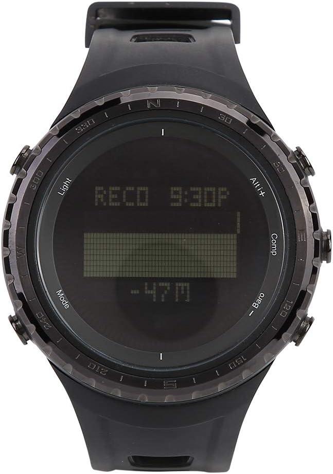 Tbest Reloj Deportivo para Hombre Mujer Multifuncional Altímetro Brújula Barómetro Podómetro Impermeable Digital Reloj LED para Escalada Pesca Senderismo al Aire Libre