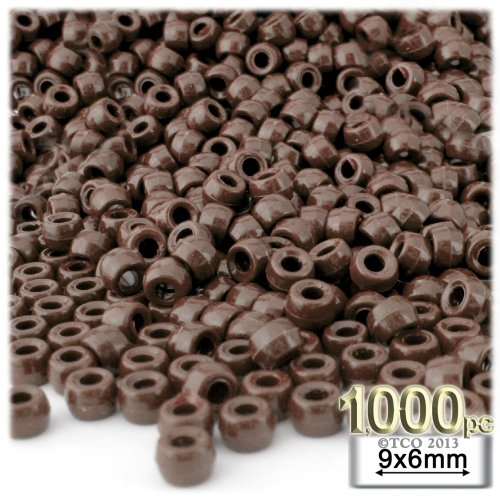 The Crafts Outlet 1000-Piece Plastic Round Opaque Pony Beads, 9 by 6mm, - 9 Outlet