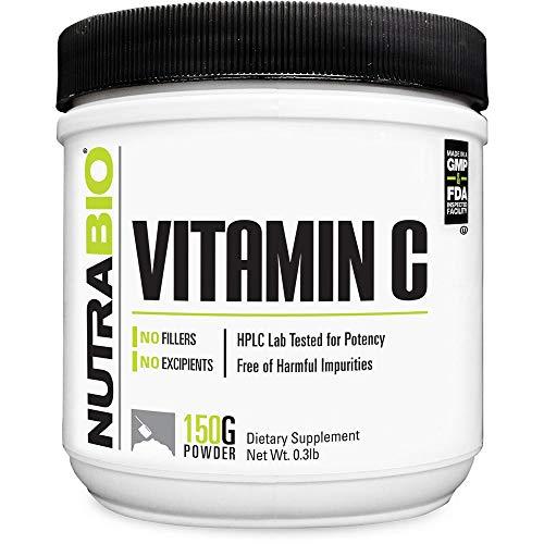 NutraBio Vitamin C Powder (150 Grams, 1000mg Serving Size)