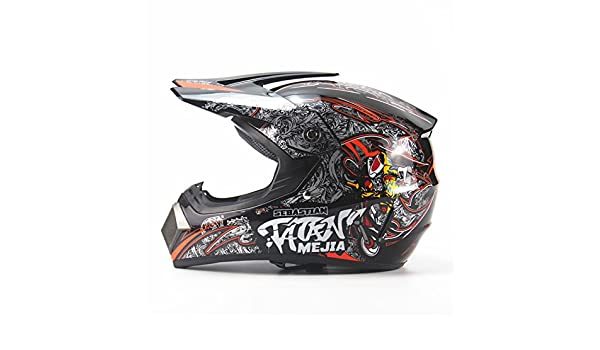 Amazon.com: RONSHIN Full Protection Off Road Casco Motorcycle Moto Dirt Bike Motocross Racing Helmet(Bright black 4 XL): Automotive