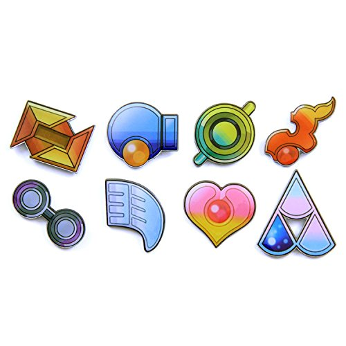 Pokemon Gym Badges: Gen 3 ORAS - Hoenn League (Clear Coating, Iron)