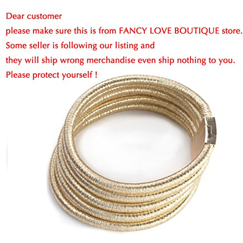FANCY LOVE Newes Double Rope Maxi Colar Choker Necklace or Bracelet with Maganetic Lock (Gold necklace) by FANCY LOVE BOUTIQUE (Image #9)