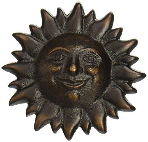 Smiling Sunface Doorbell Ringer - Oiled Bronze