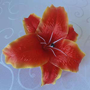 """Lily Garden 6.5"""" D Large Tiger Lily Artificial Flower Heads Colors 2"""