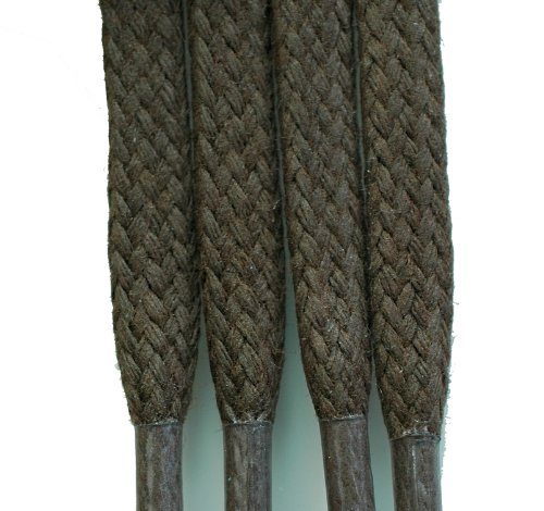 """Strong 3/16"""" 5mm Flat Shoe, Boot Laces Brown 47"""" - 120cm"""