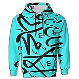 Muslim Shahada Islam Novelty Elegant 3D Graphic Hoodie Sweatshirt For Men Pullover