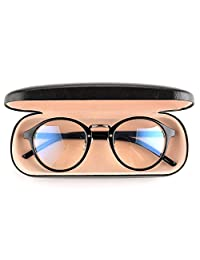 Gudzws Anti Blue Light Rays Glasses Retro Round Relieve Eyes Fatigue Unisex