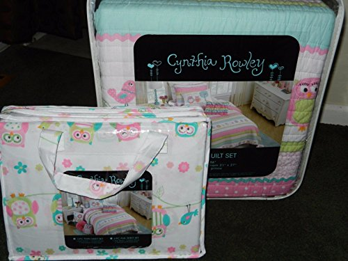 Cynthia Rowley Friendly Owl Owls Pink 8 Piece Bedding Full