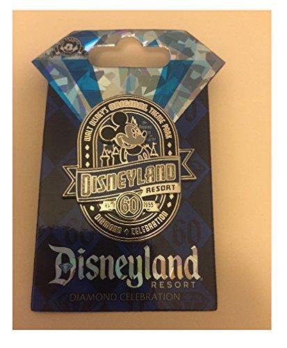 - Disneyland 60th Anniversary Diamond Celebration Mickey Mouse Vintage Label Original Mouse Retro Trading Pin