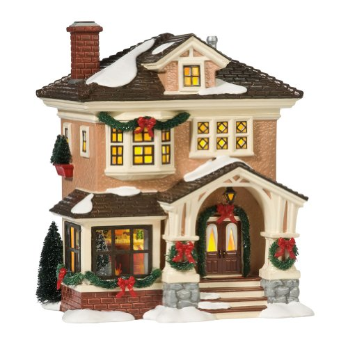 Department 56 Snow Village Christmas at Grandma's Lit House (Village Holiday)