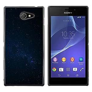 Be Good Phone Accessory // Dura Cáscara cubierta Protectora Caso Carcasa Funda de Protección para Sony Xperia M2 // Night Sky Stars Milky Way Galaxy