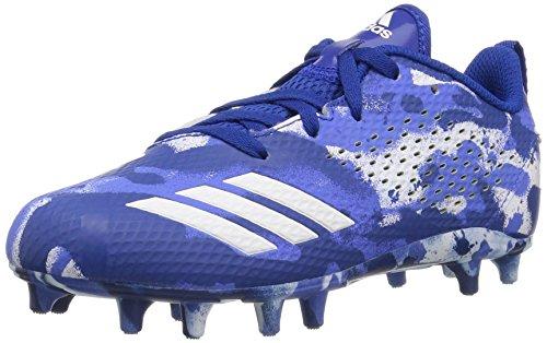 adidas Originals Unisex-Kids Adizero 5-Star 7.0 Football Shoe, White/Collegiate Royal/Hi-Res Blue, 2.5 M US Little (Royal Blue Collegiate Football)