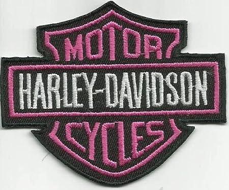 Harley Davidson Pink Abzeichen Aufnäher Am Iron On Patch Biker Chopper Bobber Badge Hog Küche Haushalt