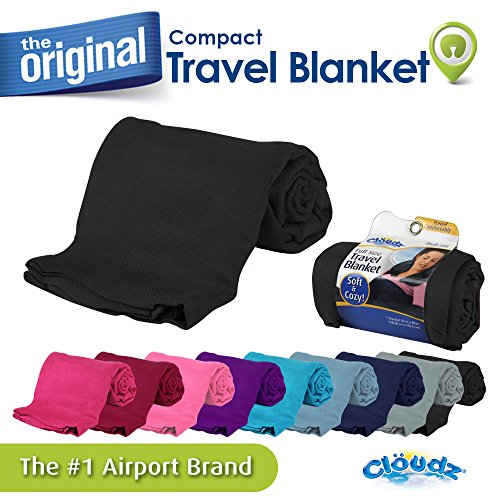 Cloudz Compact Travel Blanket - Black (Airplane Blanket)