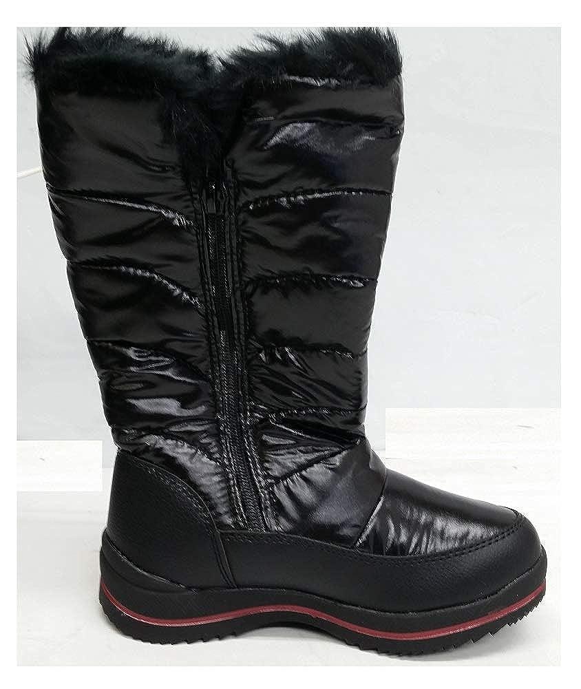 Size 1 Cat /& Jack Girls Nicole Zipper Black Winter Boots