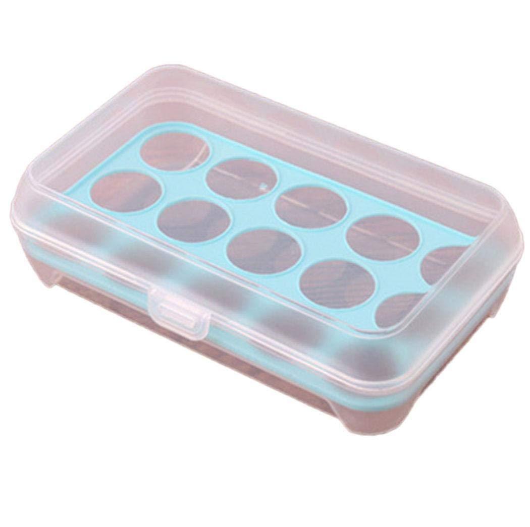 Chigant 15/uova scatola portaoggetti in plastica frigorifero porta uova contenitore porta uova vettore rosa