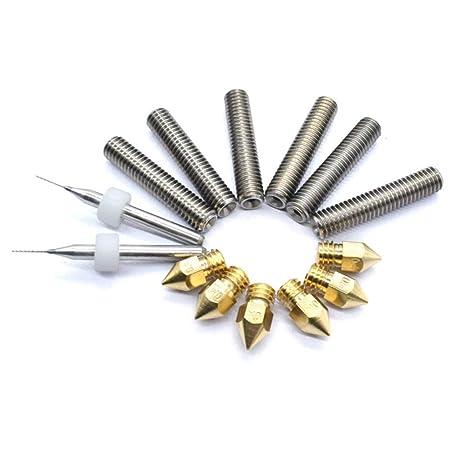 LNIMIKIY - Juego de piezas de repuesto para extrusor, 6 piezas M6 ...