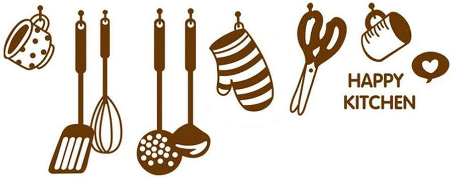 Aikesi Pegatinas De Pared Utensilios De Cocina De Dibujos Animados