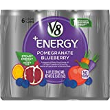 V8 +Energy, Juice Drink with Green Tea, Pomegranate Blueberry, 8 oz. Can (4 packs of 6, Total of 24)