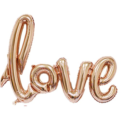 Letter A Costumes (CSSD New Letters Foil Balloon Love Birthday Wedding Party Anniversary Decor (Gold))