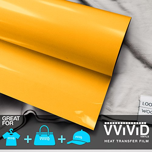 VViViD Sun Yellow Heavy-Duty Iron-on Heat Transfer Vinyl Film (12