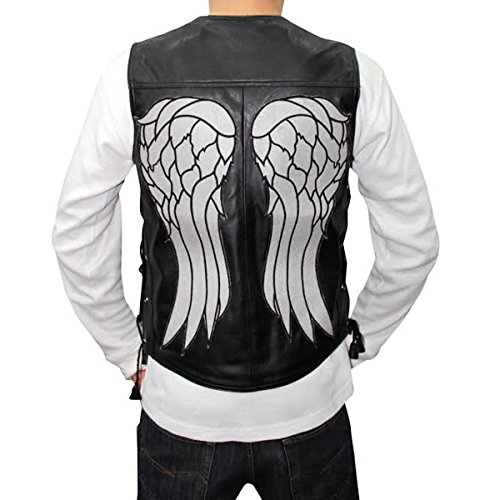 American Outfitter The Walking Dead Angel Daryl Dixon Leather Vest (Medium) Black