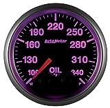 AutoMeter 5640-05702-D NASCAR Elite Oil Temperature Gauge 2-1/16 in. Black Dial Face 13 User Selectable LED Colors Electric Digital Stepper Motor 100-340 Degree F NASCAR Elite Oil Temperature Gauge
