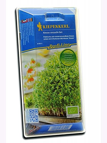 Kresseschalen Kresse-Anzucht-Set mit BIO-Saatgut Kiepenkerl - Gemüse-Saatgut