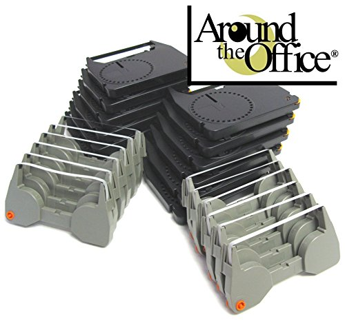 Combo Pack of 12 Typewriter Ribbons & 12 Correction Lift off Tapes for IBM Lexmark Wheelwriter Personal Typewriter by Around The Office by Around The Office