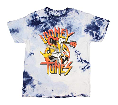 Looney Tunes Men's Daffy Duck Bugs Bunny Sylvester Tie Dye Licensed Adult T-Shirt Shirt (XL) ()