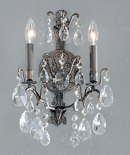 (Classic Lighting 9000 AB S Versailles, Crystal, Sconce/WallBracket, 5