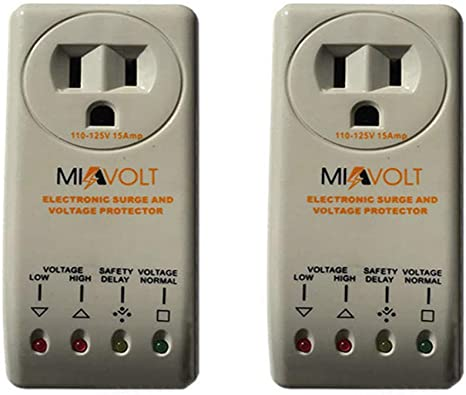2-Pack 1800 Watts Refrigerator Voltage Surge Protector Appliance New Model