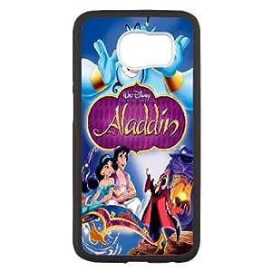 Samsung Galaxy S6 funda Negro [PC dura de la funda + HD Pattern] Serie Aladdin® [Numeración: FHJSFOHSK4627]