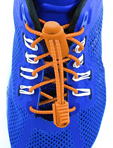 Elastolaces - No Tie Elastic Shoe Laces - 2 Additional Clips - Marathon Sport Schedule (Dutch (Dutch Clip)