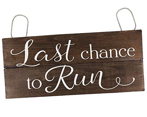 - Last Chance to Run Sign Ring Bearer Sign Here Comes the Bride Sign Ring Bearer Ideas Wedding Sign for Ring Bearer Rustic Wedding Decor