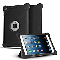 iPad Mini 4 Case, CASEFORMERS Armor Shield Cover Flip Case with Stand for iPad Mini 4 - Black