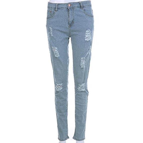 LILICAT® Pantalones Vaqueros Rotos Hombre, Jeans Pantalones Vaqueros ...