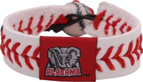 Bracelet Gamewear (NCAA Alabama Crimson Tide A Logo Classic Baseball Bracelet Gamewear)