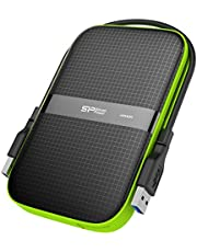 Silicon Power 4TB Black Rugged Portable External Hard Drive Armor A60, Shockproof USB 3.0 for PC, Mac, Xbox and PS4