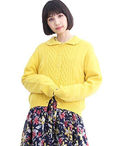 (メルロー) merlot ケーブル編み襟付きコットンカーデイガン1308 938116021308