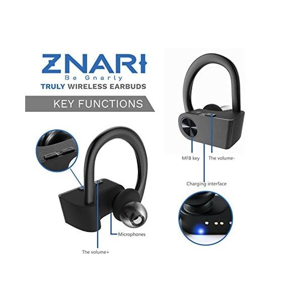 True Wireless EARBUDS Totally Truly Bluetooth 5 Power Pro Sports Beats Noise Cancel Isolation Waterproof IPX7 Black Grey 5