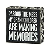 Primitives by Kathy Box Sign, 4-Inch by 4-Inch, Grandchildren